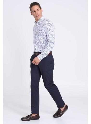 Lufian Slim Fit Uzun Kollu Gömlek Saks